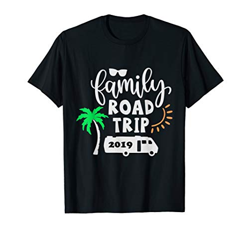 Family Road Trip Summer Vacation Caravan 2019 t-shirt