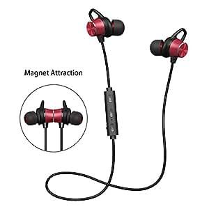 Deporte v4.1 de Bluetooth Auricular,Cascos Bluetooth Inalámbricos Deportivos con Micrófono,Función