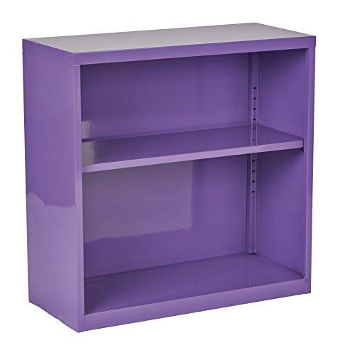 Office Star Metal Bookcase with 1 Adjustable Shelf, Purple Finish (Bookshelf Purple)