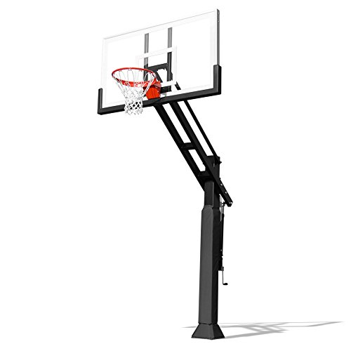 Pro Dunk Gold with Rust Armor Best Selling Driveway Basketball Goal Hoop with a High-Performance Glass Backboard