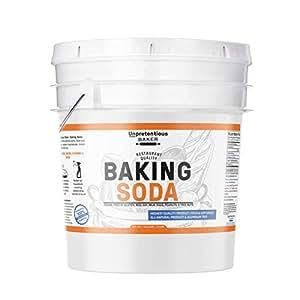 Baking Soda (Sodium Bicarbonate) (1 gallon) by Unpretentious Baker, Resealable Bucket, Restaurant Quality, Highest Purity, Food & USP Pharmaceutical Grade