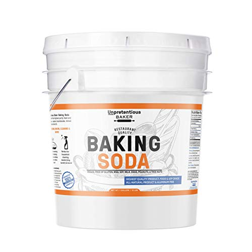 Baker Sofa - Baking Soda (Sodium Bicarbonate) (1 gallon) by Unpretentious Baker, Resealable Bucket, Restaurant Quality, Highest Purity, Food & USP Pharmaceutical Grade