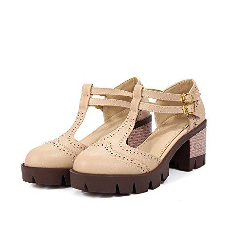 Sandales Femme SLC04253 Abricot 36 Beige AdeeSu Compensées 5 5O4zUpqO