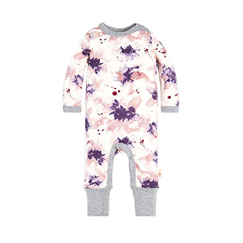 Burt's Bees Baby Baby Girls Romper Jumpsuit, 100% Organic Cotton One-Piece Coverall, Exploded Petals, 0-3 Months