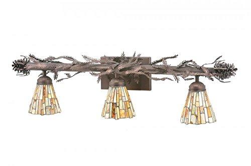 Meyda Tiffany 108664 Jadestone Delta 3 Light Vanity Light Fixture, 36