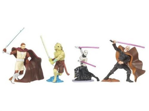 Star Wars 2008 Unleashed Battle Pack Figure 3-Pack Jedi vs. Sith