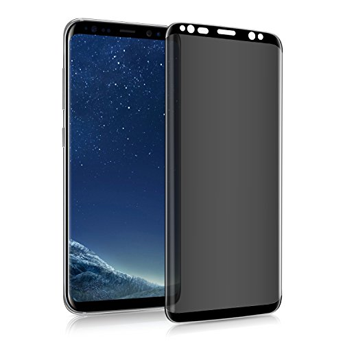 Pueryin 3D Galaxy S9 Screen Protector Privacy Anti-spy Tempered Glass Screen Film 9H Hardness Anti-Scratch Anti-Peep Shield for Samsung Galaxy S9 (Black)