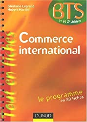 Commerce international BTS 1re et 2e années