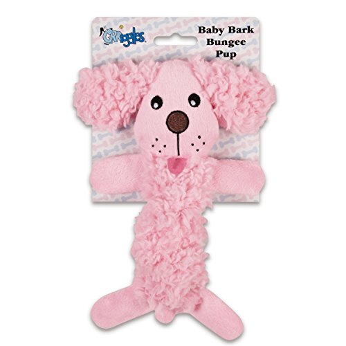 Grriggles Baby Bark Bungee Pup Toy, Pink
