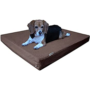 Dogbed4less Orthopedic Memory Foam Dog Bed with Durable Denim Cover, Waterproof Liner and Extra Pet Bed Case, Fit 42