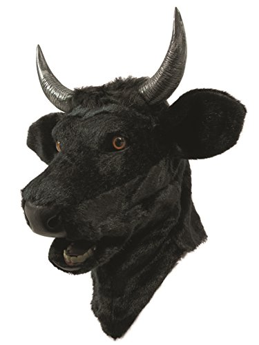 Forum Novelties Unisex-Adults Moving Mouth Mask-Bull, Black, -