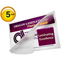 Oregon Laminations Premium 4x6 Photo Laminating Pouches 5 Mil 4-1/4 x 6-1/4 [Bx of 500] Clear Hot