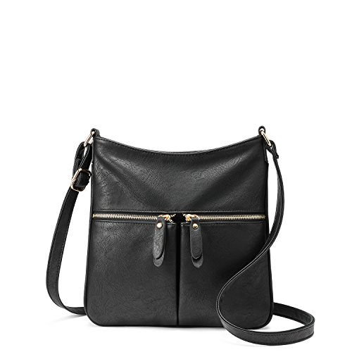 Crossbody Bags for Women Shoulder Bag Faux Leather Ladies Bag with Adjustable Long Strap