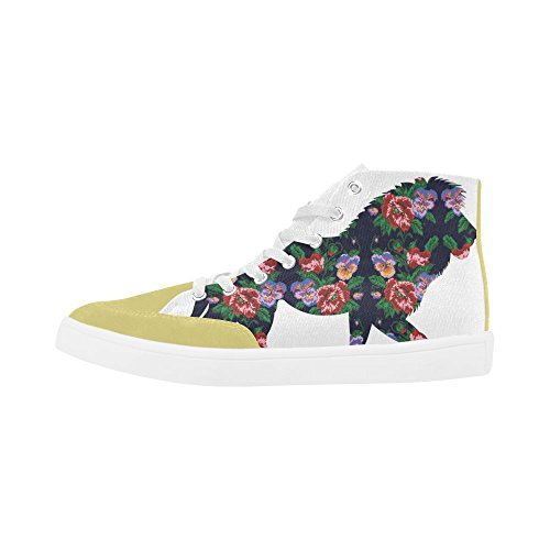 InterestPrint Flowering Branch With a Bird Fashion High Top Shoes For Women Lion i5PUtkDAB