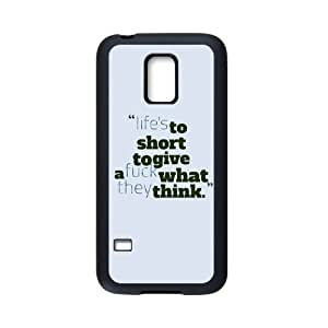 General personality phone case, Fuck What They Think Pattern black plastic and TPU case For Samsung Galaxy S5 mini at Run horse store