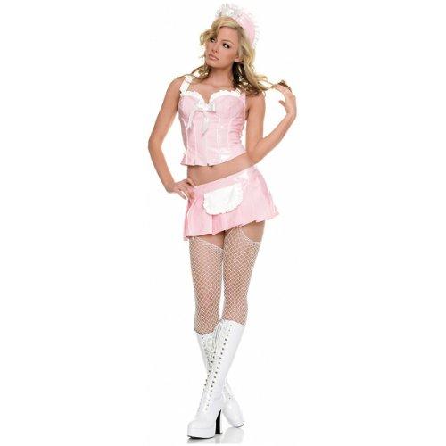 Vinyl French Maid Costume (Vinyl French Maid Costume - Large - Dress Size)
