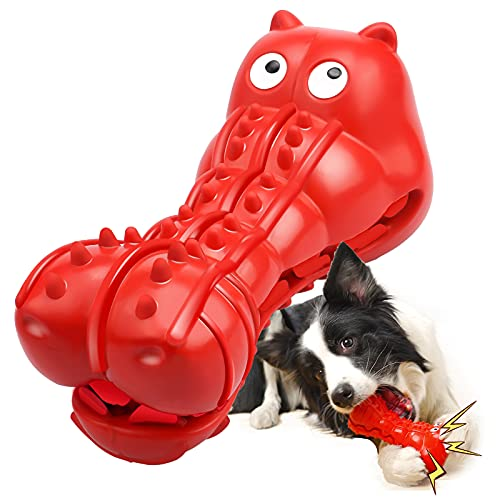 Rmolitty Squeaky Dog Toys for Aggressive Chewers, Tough Dog Chew Toys for Aggressive Chewers Indestructible Durable Dog…