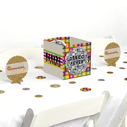 Big Dot of Happiness 70's Disco - 1970's Disco Fever Party Centerpiece & Table Decoration Kit]()