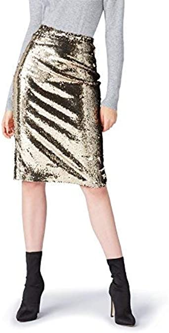 Marca Amazon - find. Falda de Tubo de Lentejuelas para Mujer ...