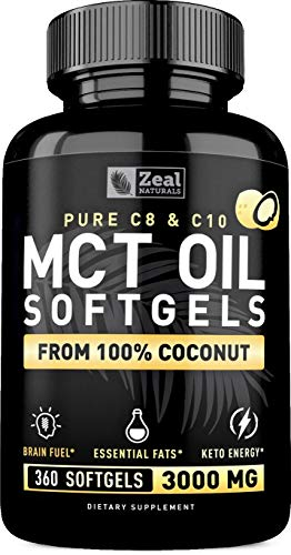 Capsules Softgels 3000mg Unrefined Coconut
