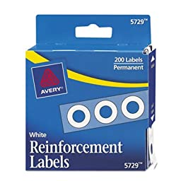 Avery Products - Avery - Hole Reinforcements, 1/4\