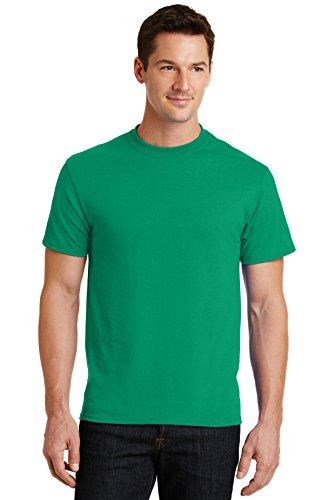 Blend Polyester Green - Port & Company Mens 50/50 Cotton/Poly T-Shirt PC55 -Kelly Green XL