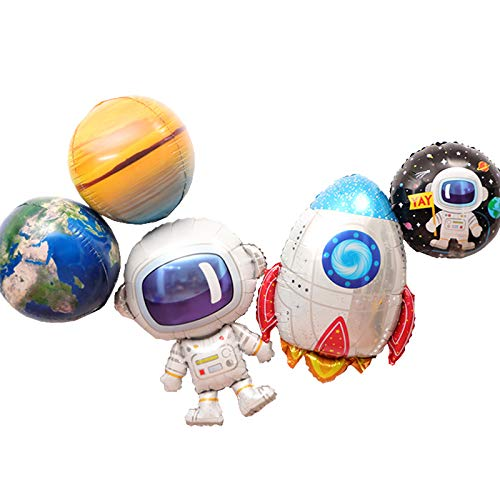 5Pcs Cute Large Size Outer Space Cartoon Balloons