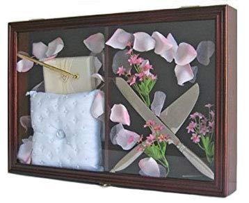 Wedding Ceremony Accessoriesbaby Shower Keepsake Shadow Box Display Case Mahogany Finish