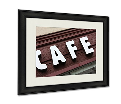 Ashley Framed Prints, Cafe, Wall Art Decor Giclee Photo Print In Black Wood Frame, Ready to hang, 24x30 Art, - Seattle Shopping Downtown