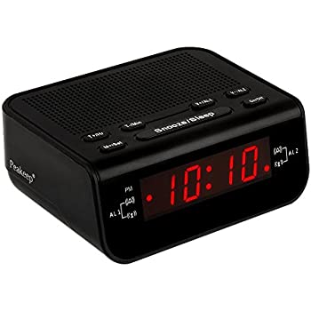 peakeep little digital fm alarm clock radio with dual alarm snooze sleep timer and. Black Bedroom Furniture Sets. Home Design Ideas