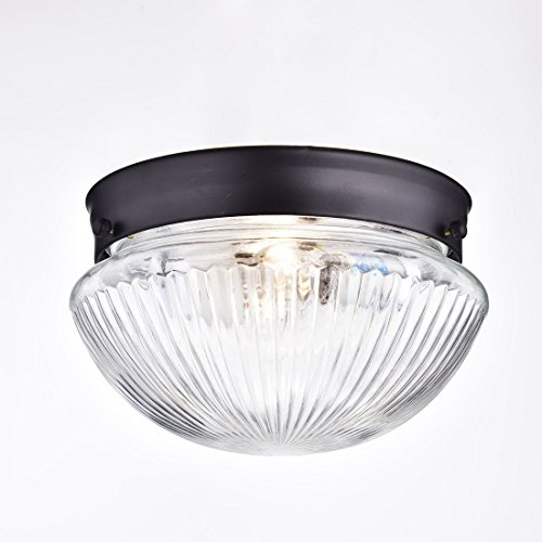 Truelite industrial flush mount ceiling light with glass Ceiling mount bathroom light fixtures