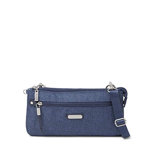 (Baggallini Women's New Classic RFID Transit Bagg Steel Blue One Size)