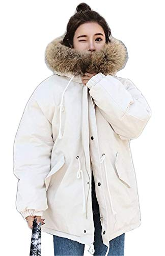 De Mujer Termica Larga Adelina Elegantes Retro Outerwear Piel Invierno  Fashion Abrigo Chaqueta Blanco Capucha Espesar Con Casual Anchas Manga  Outdoor 4fwRx8 a8b380d568d3