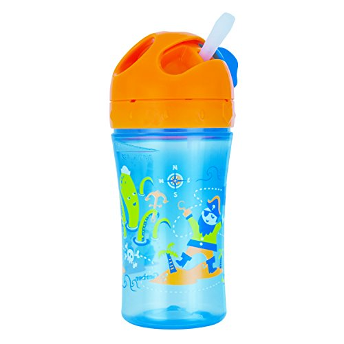 Gerber Graduates Advance Easy Straw Cup with Seal Zone Technology, 10-Ounce, Pirate Design (Graduate Seals)