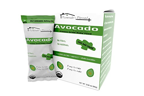 Homemade and Blessed Organic Avocado Baby and Everyone Else Food. Great for Travel, Keto, Paleo, Healthy Fat, Vegan, on the go snack, organic baby food, perfect for recipes (7 packs)