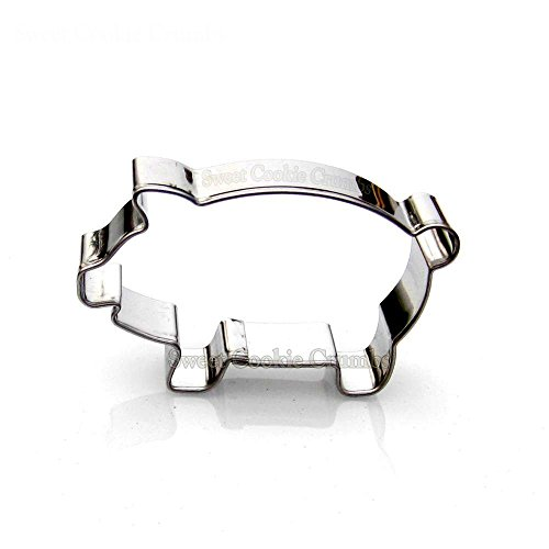 Small Pig Cookie Cutter- Stainless Steel]()