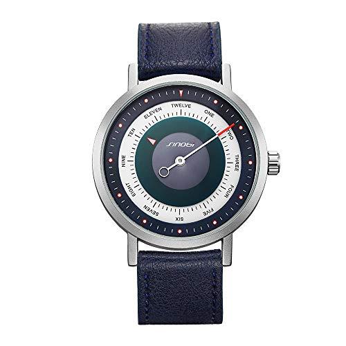 SINOBI Business Watches Men Fashion Original Design Watch Men Steel Mesh Men's Watch Clock Relogio Masculino Creative Wristwatch (S9809G-Blue)