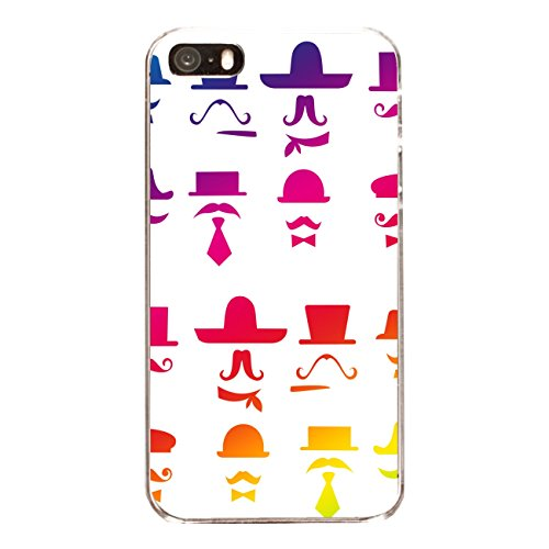 "Disagu Design Case Coque pour Apple iPhone 5 Housse etui coque pochette ""Colour Moustache"""