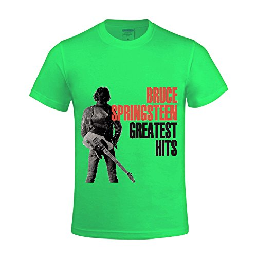 Bruce Springsteen Greatest Hits Men Tee Round Neck Design Green (Cabaret Outfits)