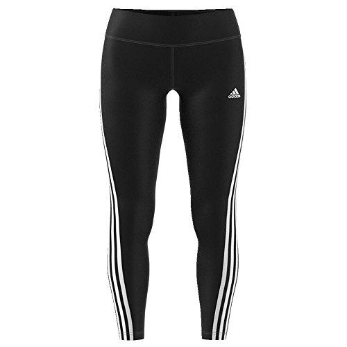 adidas Women's Training Designed 2 Move 3 Stripe Long Leggings, Black/White, Medium