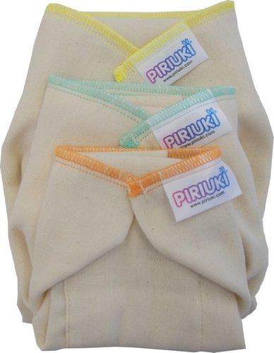 Piriuki, Conjunto de los panales de tela, reutilizables, 6 uds, Blanco (Weiss) pu64730