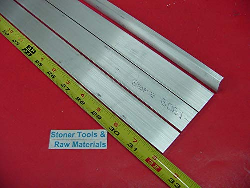 4 Pieces 1/4'' X 1'' Aluminum 6061 Flat BAR 32'' Long T6511 .25'' New Mill Stock
