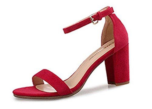 Alto Redondas Sandalias Mujeres Con Punta 2 Meili De Alto Tacón Zapatos Para xpwCIpfH7q