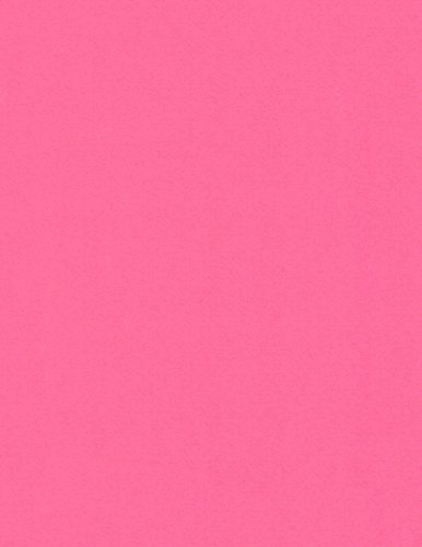 50 Sheets 65Lb Cover 8.5 x 11 inch Very Berry Pink Cardstock