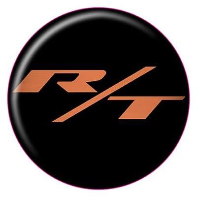 2008-2020 Challenger R/T Fuel Door Overlay - Orange/Black: Car Electronics
