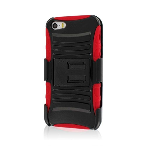 MPERO IMPACT XT Série Béquille Case Étui Coque and Clip Ceinture Holster for Apple iPhone 5 / 5S - R