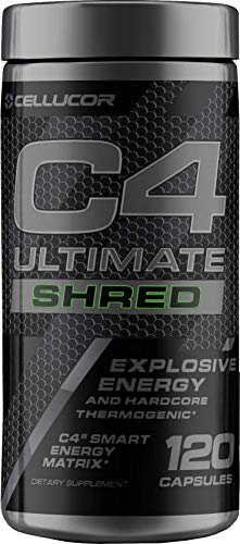 (Cellucor C4 Ultimate Shred Pre Workout Capsules, Thermogenic Fat Burner for Men & Women, Weight Loss Supplement with Ginger Root Extract, 120 Capsules )