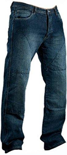 Juicy Trerdz Men's Denim Motorcycle Motorbike Sports Jeans with Aramid Protection Lining Blue W38 x L32