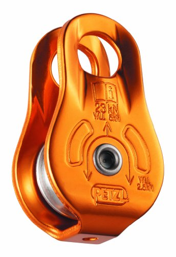 Petzl - FIXE, Pulley with Fixed Side Plates, Yellow - Petzl Pulley
