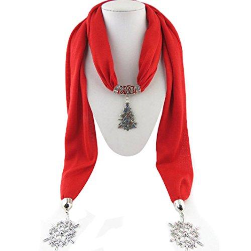 Jewelry Women's Scarf Tassel Rhinestone Scarves Winter Pendant Stockings With Red Egmy wqg1qO48